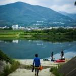 碧き四国の清流で。貞光、吉野川。