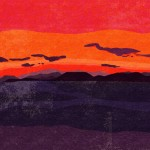 《香川》絵で旅する四国-14 瀬戸内海の夕景