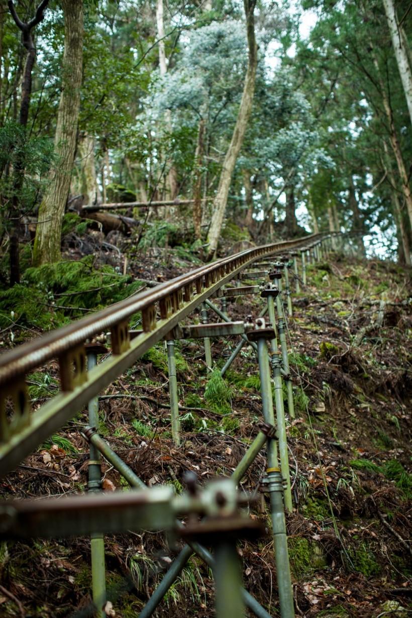 徳島 つるぎ町の十家集落 モノレール