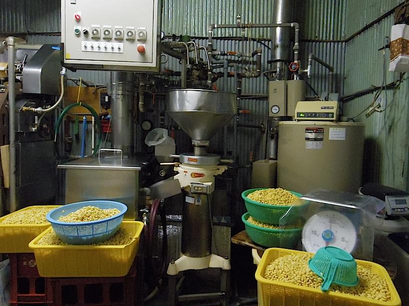 平成元年から使用されている豆乳プラント。