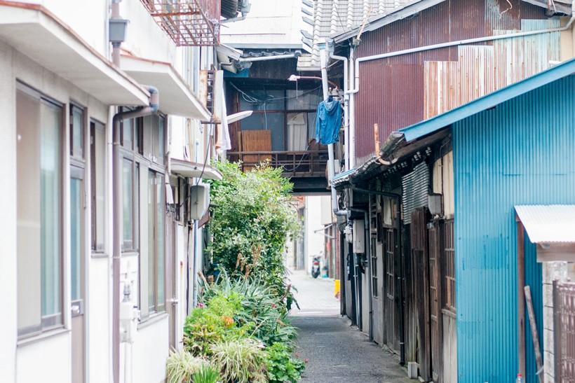 三津浜の街並み