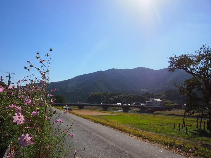 工場から歩いてすぐ、小田川沿いを散歩するのもおすすめ。