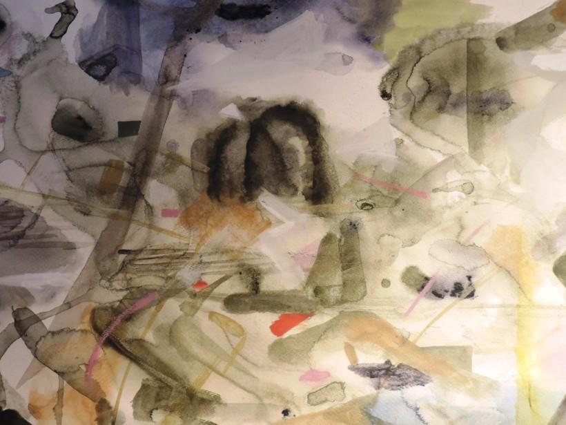 クサナギさんと小西さん、正反対の2人がお互いの技法を用いて合作を生み出した。展示期間の直前に急遽、展示を決めたのだという。